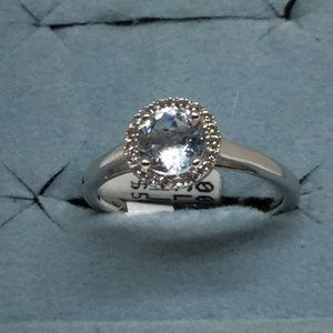 Jewelry - 1.00ct Genuine Blue Topaz and Sapphire Ring Sz 7
